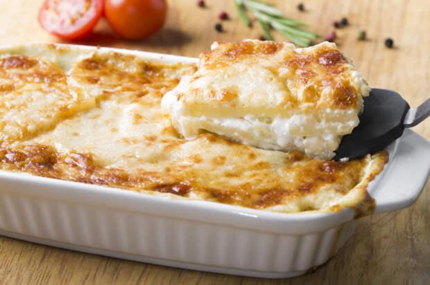 Картофельный гратен с сырной корочкой. \ Фото: bigmir.net.