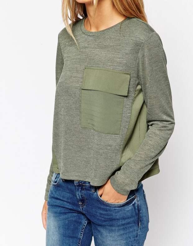 Как увеличить размер пуловера