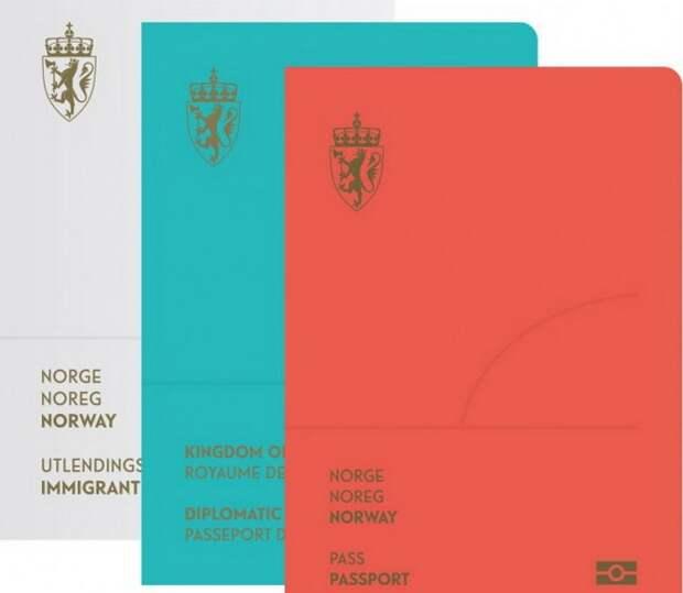 Красивый и необычный паспорт гражданина Норвегии