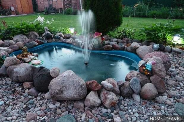 фонтан с распылением