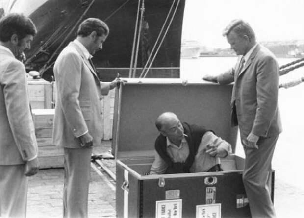 """Жерар Ури на съемках фильма """"Супермозг"""", 1968 год"""