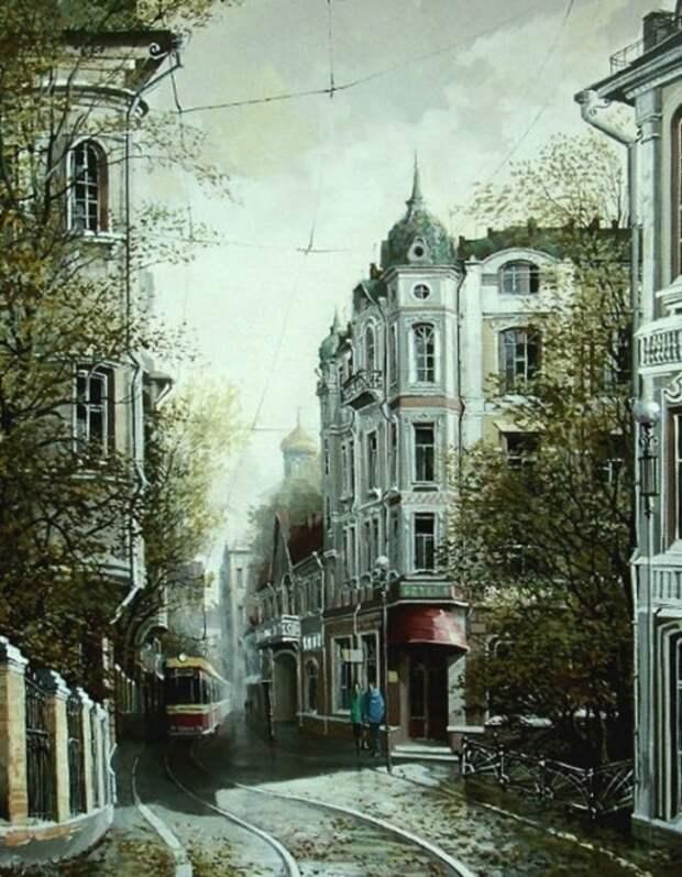 Первый трамвай. Автор: Александр Стародубов.