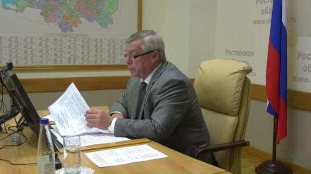 Освоем распорядке дня рассказал губернатор Ростовской области