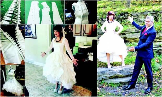Безумие и отвага!  Свадебное платье этой невесте шил будущий муж. Она сама его увидела только в день свадьбы!