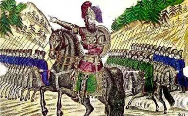 На фото: иллюстрация Ермак Тимофеевич, покоритель Сибири.