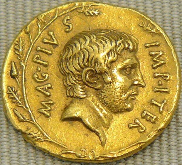 Ауреус Секста Помпея 36–37 годов год до н.э. - Гражданские войны: Октавиан против Секста Помпея | Warspot.ru