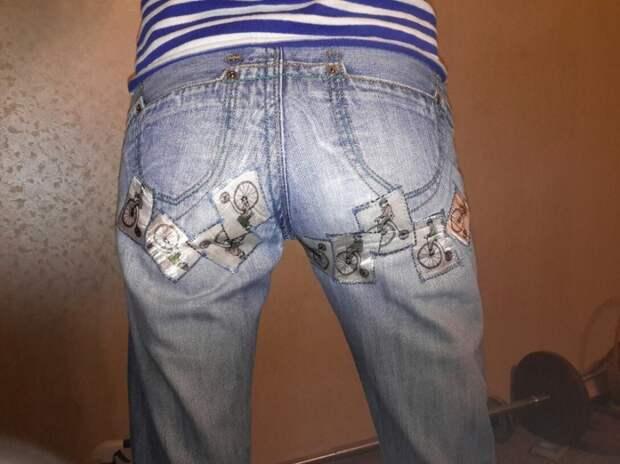 заплатки на джинсах
