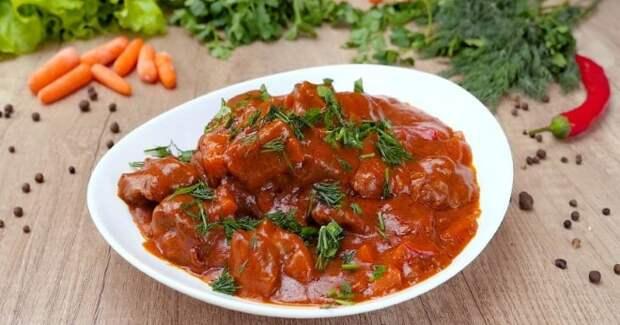 Мясо в соусе на сковороде рецепт с фото пошагово и видео