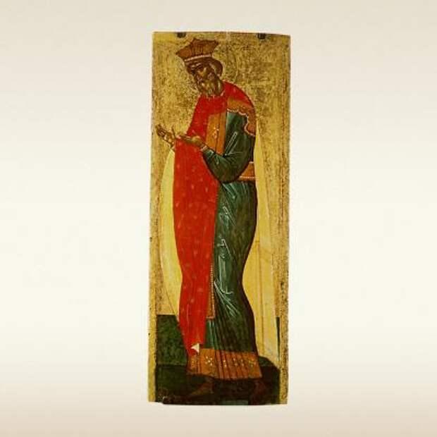 Икона Святой князь Владимир из деисусного чина. Первая треть XV века