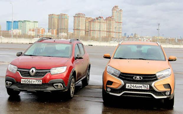 Тест Lada XRAY Cross и Renault Sandero Stepway: дали пару