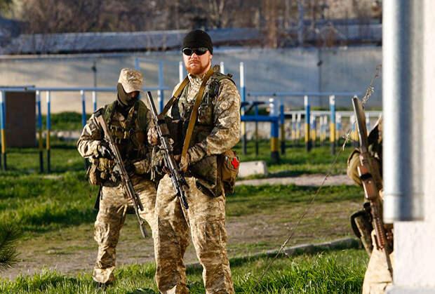 Российский спецназ в аэропорту Бельбек