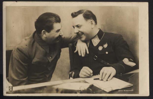 Ворошилов и Сталин. 1936 г.
