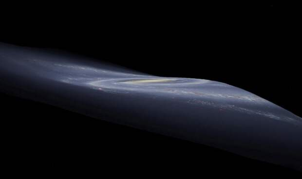 Деформацию Млечного Пути объяснили столкновением с другой галактикой