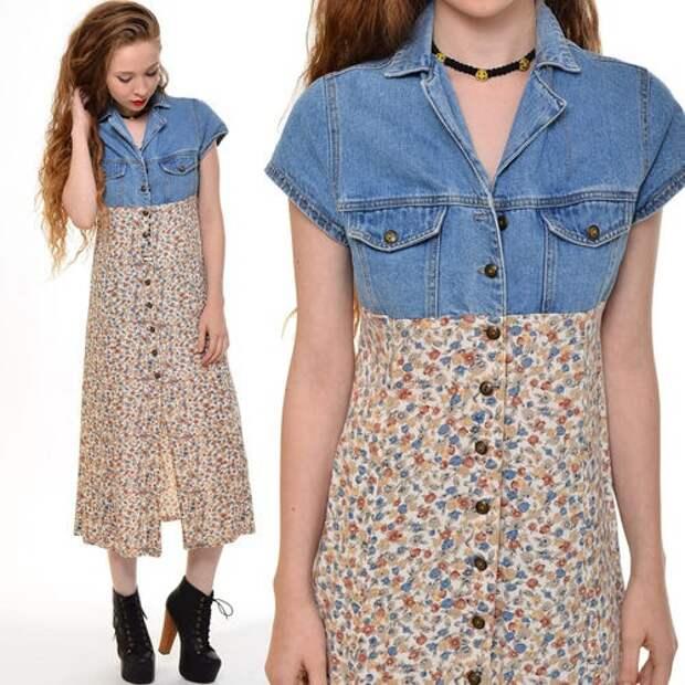 Идея переделки джинсового платья