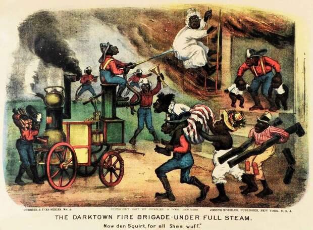 Дарктаунская пожарная бригада - в момент тушения пожара