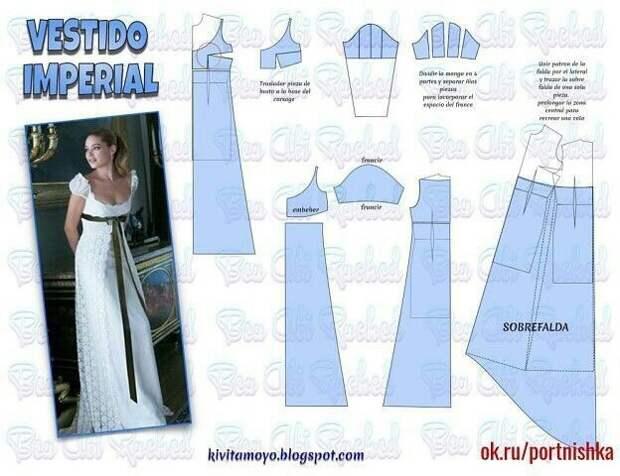 Выкройка платья Жозефины
