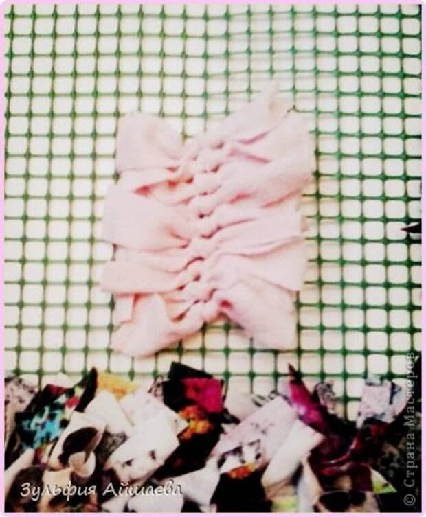 Интерьер Мастер-класс Ткачество ручное Коврик из футболок Сетка Ткань фото 7