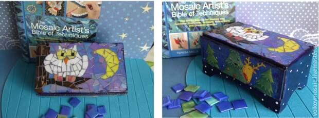 Декорируем мини-комод в технике мозаики