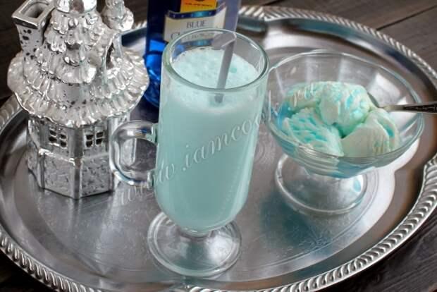 Рецепт коктейля с мороженным, блю кюрасао