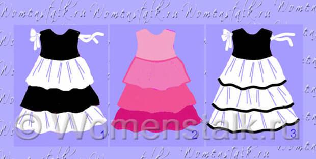 Варианты детского платья с воланами