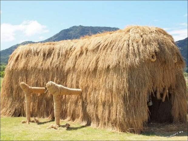 фигуры из сена