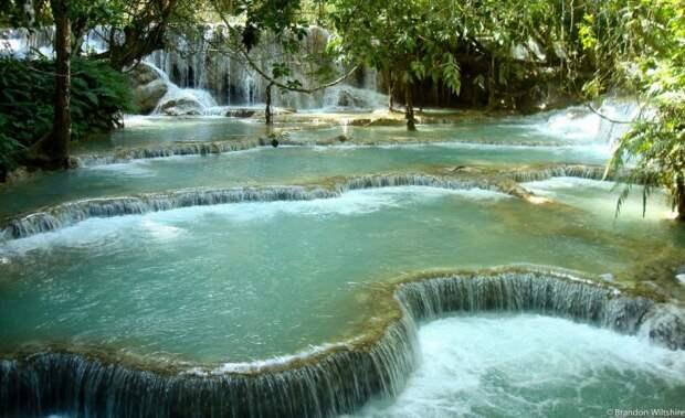 Водопад Куанг Си, Лаос. водопад, природа, факты