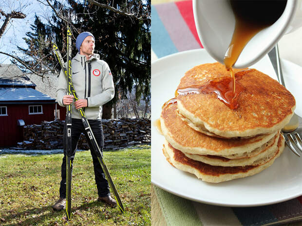 Лыжник Энди Ньюэлл предпочитает печь блины, рецепт которых достался ему от дедушки. Блюдо дает участнику двух олимпиад все необходимое для ежедневных двух-трех-часовых тренировок. Чтобы добавить протеина, Ньюэлл порой добавляет к блинам несколько яиц или греческий йогурт.