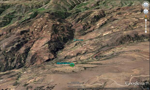 Скала Пума Орго. Карты Гугл