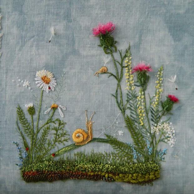 Очаровательная цветочная вышивка Розы Андреевой