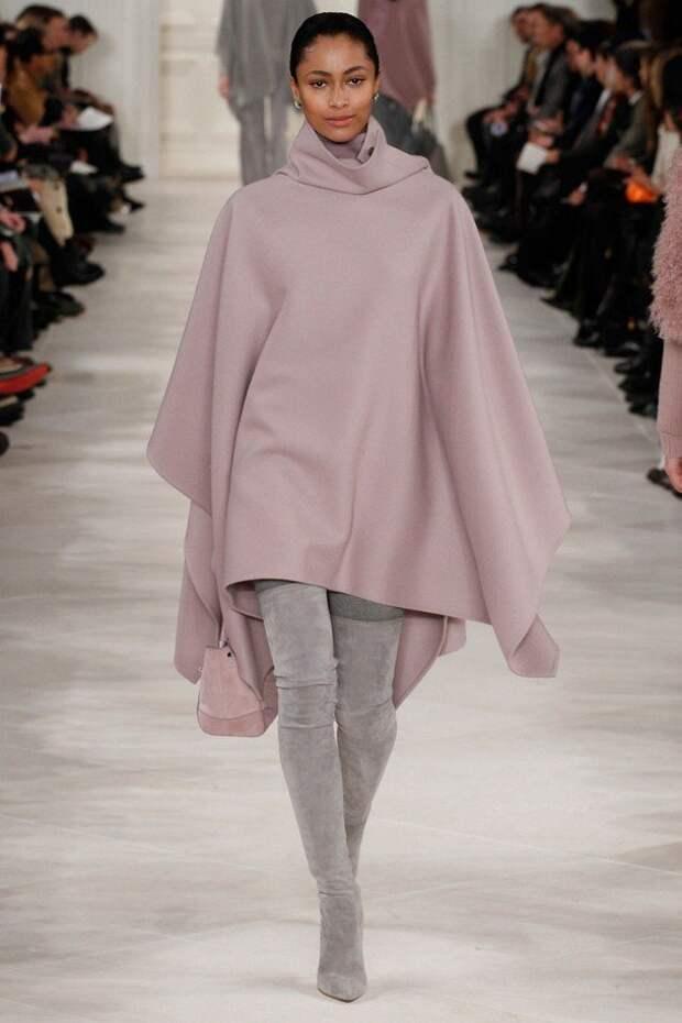 Пончо зимой 2020-2021: модная этника