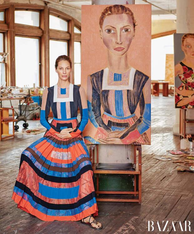 Портреты и супермодели в Harper's Bazaar US
