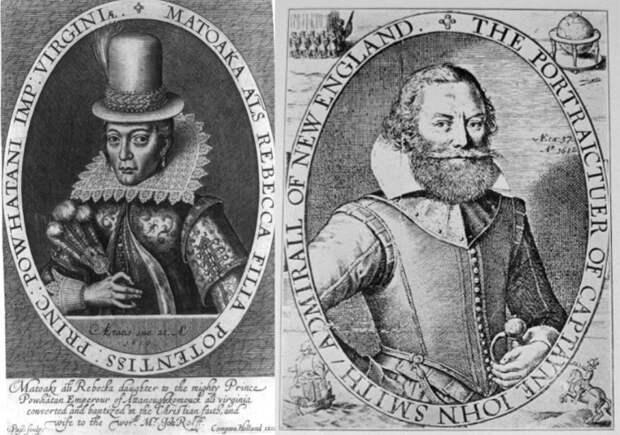 Гравюра Симона де Пасса 1616 г. – единственный известный прижизненный портрет Покахонтас, и портрет Джона Смита