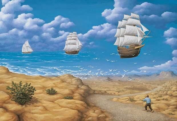 30 нереальных оптических иллюзий, которые перевернут твое сознание. Бесподобное искусство!