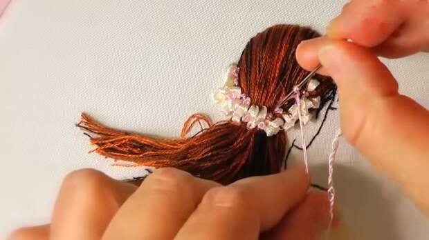 Совсем на сложно! Потрясающая объёмная вышивка для украшения одежды и аксессуаров