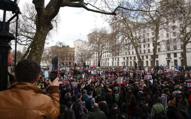 Демонстрации в Лондоне
