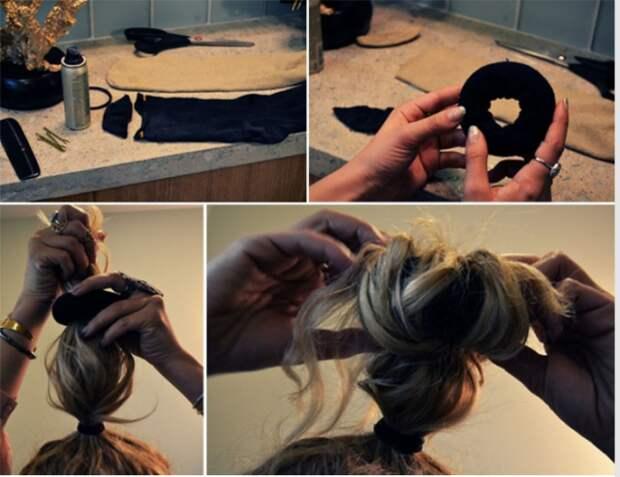 Резинка для волос носки, сделай сам