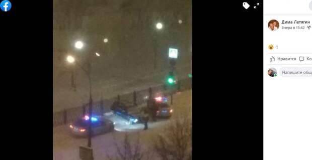Снегопад стал причиной ДТП на Братиславской