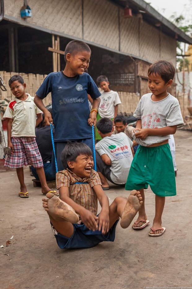 Жизнь на пляже в Бирме бирма, жизнь людей, мандалай, пляж