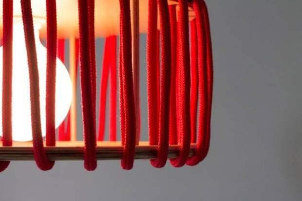 Оригинальная лампа из веревки