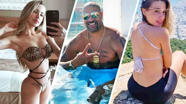 Легендарный страйкер «Интера» Адриано встречается сразу с двумя моделями — и следит, чтобы они не пересекались в его президентском люксе