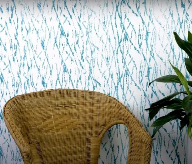 Результат совмещения веревки и валика для покраски стен. /Фото: youtube.com/watch?v=pM0fwBT6h6I