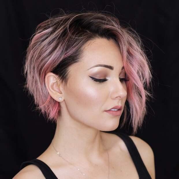 Элегантная стрижка косой боб: 10 идей, которые подарят образу настоящую женственность