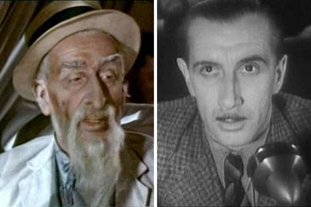 Советские актеры: преклонные годы и молодость.