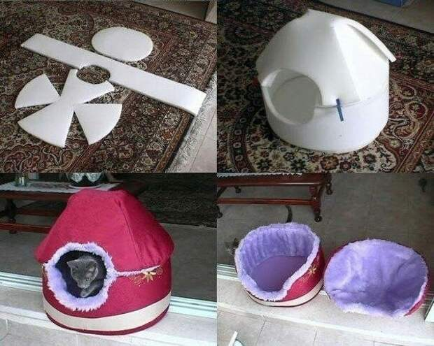Домик для котенка diy