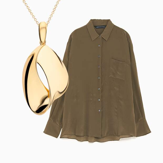 Совершенный союз: шелковые блузки + украшения на шею