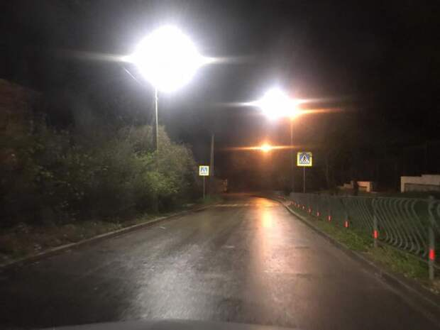В Инкермане обновили сети наружного освещения