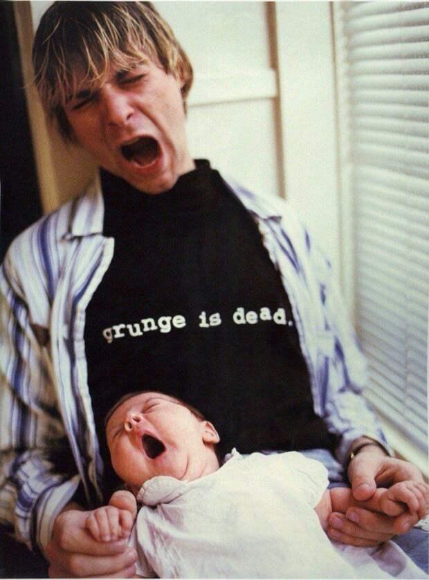 Курт Кобейн со своей дочерью, сентябрь 1992 года история, картинки, фото