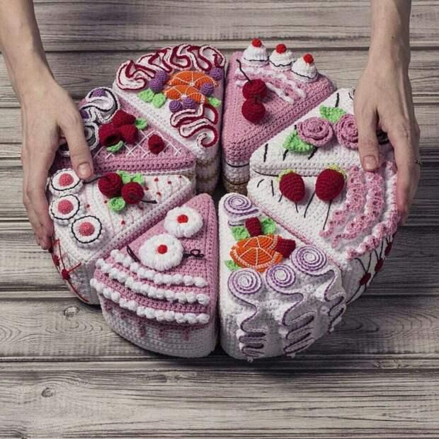 Вязаные торты
