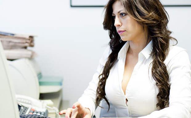 10. Никаких проблем с офисной одеждой внешность, грудь, женщины, маленькая грудь