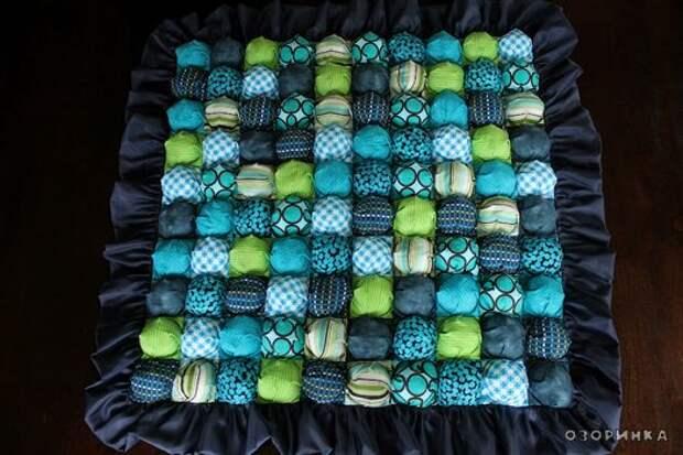 Обьемное одеяло из остатков ткани